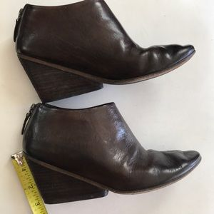 marsèll ankle wedge leather boots Sz 36.5/6.5